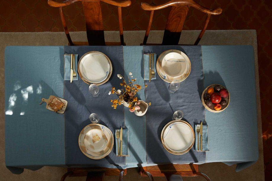 Laurence Carroy linge de table lin fait en france